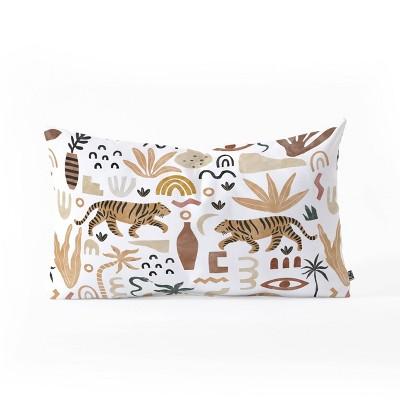 "23""x14"" Marta Barragan Camarasa Wild Desert Shapes II Lumbar Throw Pillow - Deny Designs"