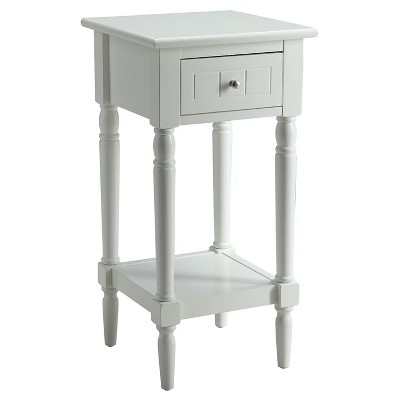 French Country Khloe Accent Table - Black - Convenience Concepts
