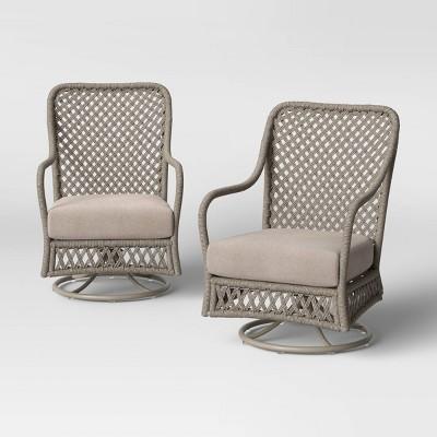 Clarkton 2pk Woven Swivel Patio Rocking Chairs - Threshold™