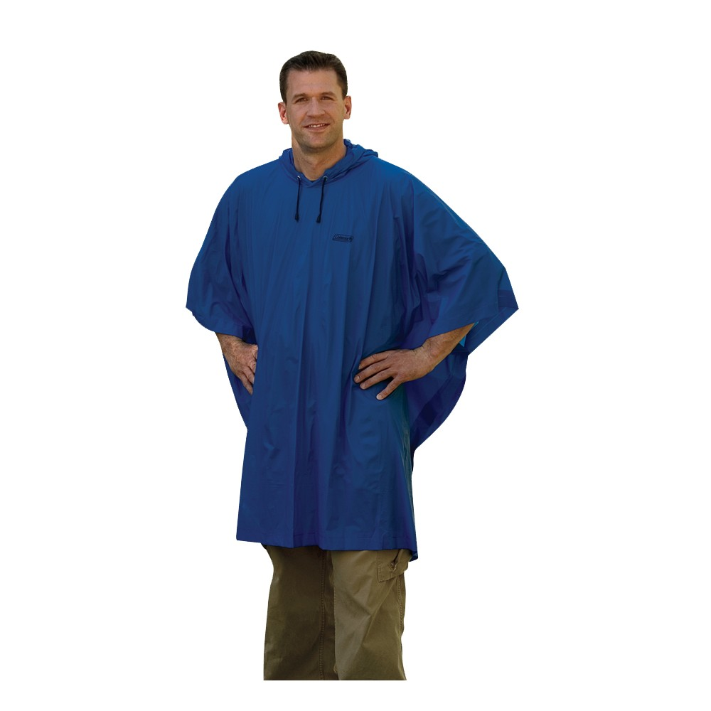 Image of Coleman Adults' Poncho, Adult Unisex, White Blue