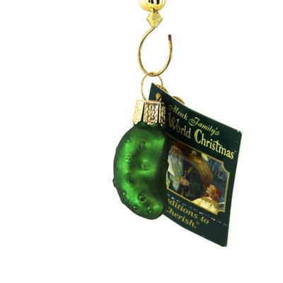 """Old World Christmas 1.5"""" Miniature Gurken Pickle Hide Extra Gift  -  Tree Ornaments"""