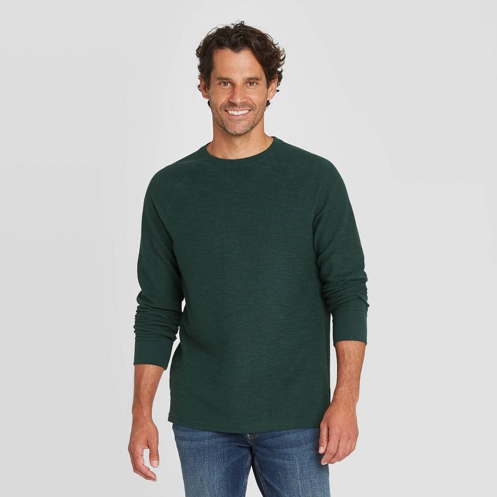 Best Men's Standard Fit ong Seeve Textured Crew Neck T-Shirt - Goodfeow & Co™