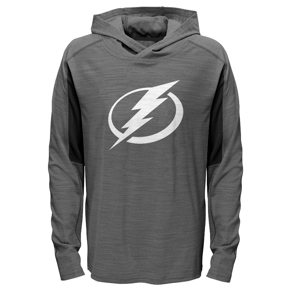 Tampa Bay Lightning Boys' Rink Rat Gray Lightweight Hoodie M, Multicolored