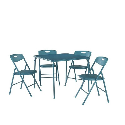5pc Folding Table and Chair Set Teal - Room & Joy