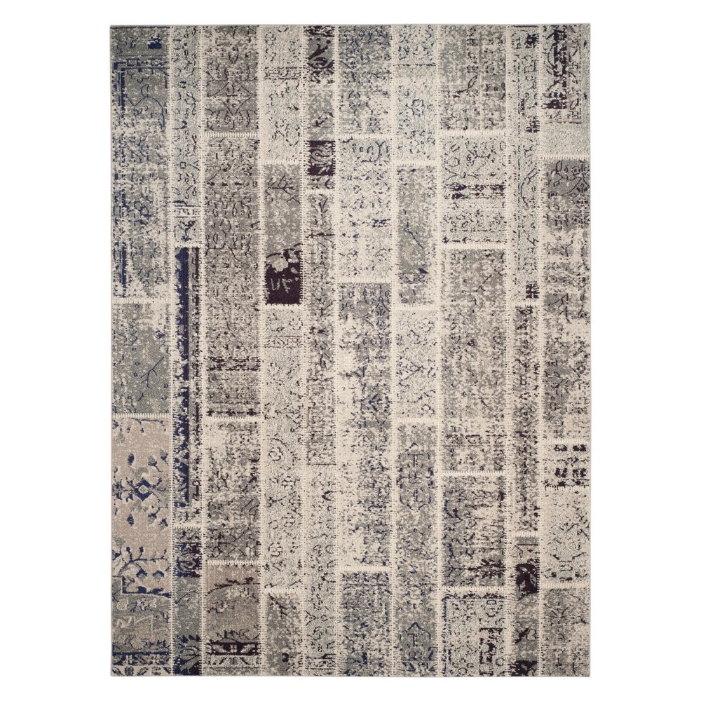 9'X12' Geometric Area Rug Gray - Safavieh, Gray/Multi-Colored