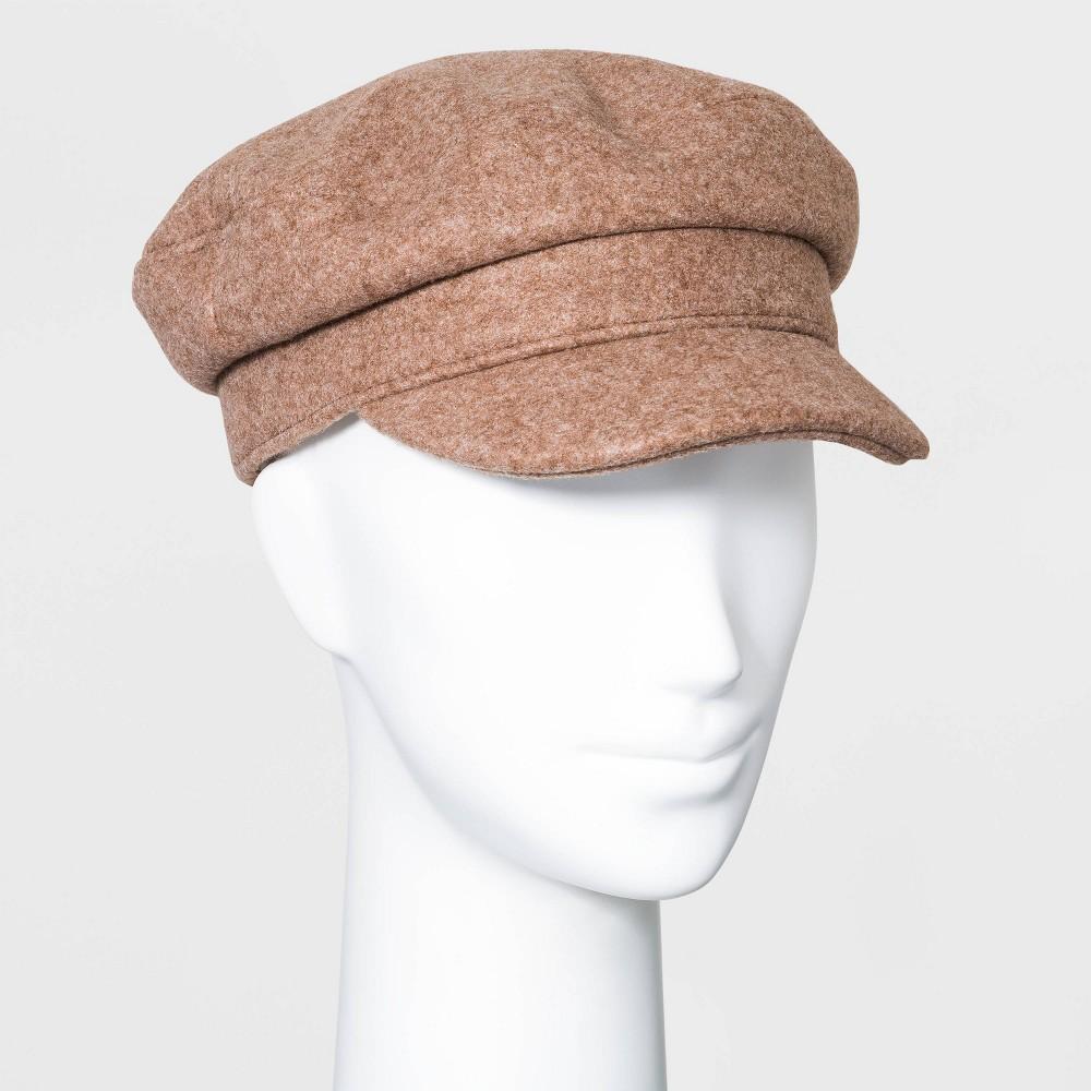 Hippie Hats,  70s Hats Womens Felt Captain Hat - Universal Thread Camel $15.00 AT vintagedancer.com
