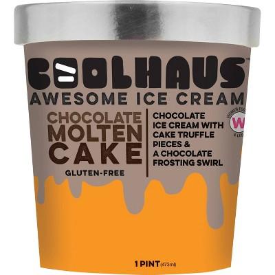 Coolhaus Chocolate Molten Chocolate Cake Ice Cream - 1pt