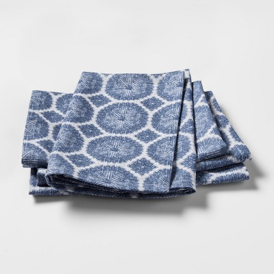 Blue Medallion Kitchen Textile Napkins - Threshold™