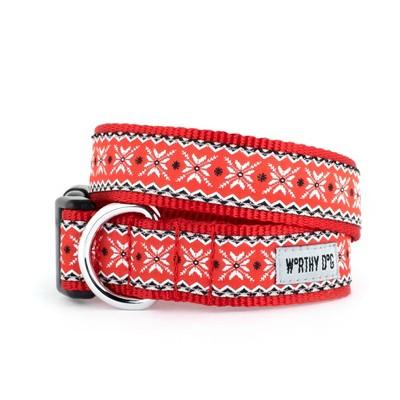 The Worthy Dog Nordic Snowflake Dog Collar