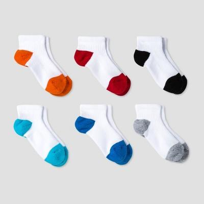 Toddler Boys' Athletic Low Cut Socks 6pk Cat & Jack™ - Multicolor 4T-5T