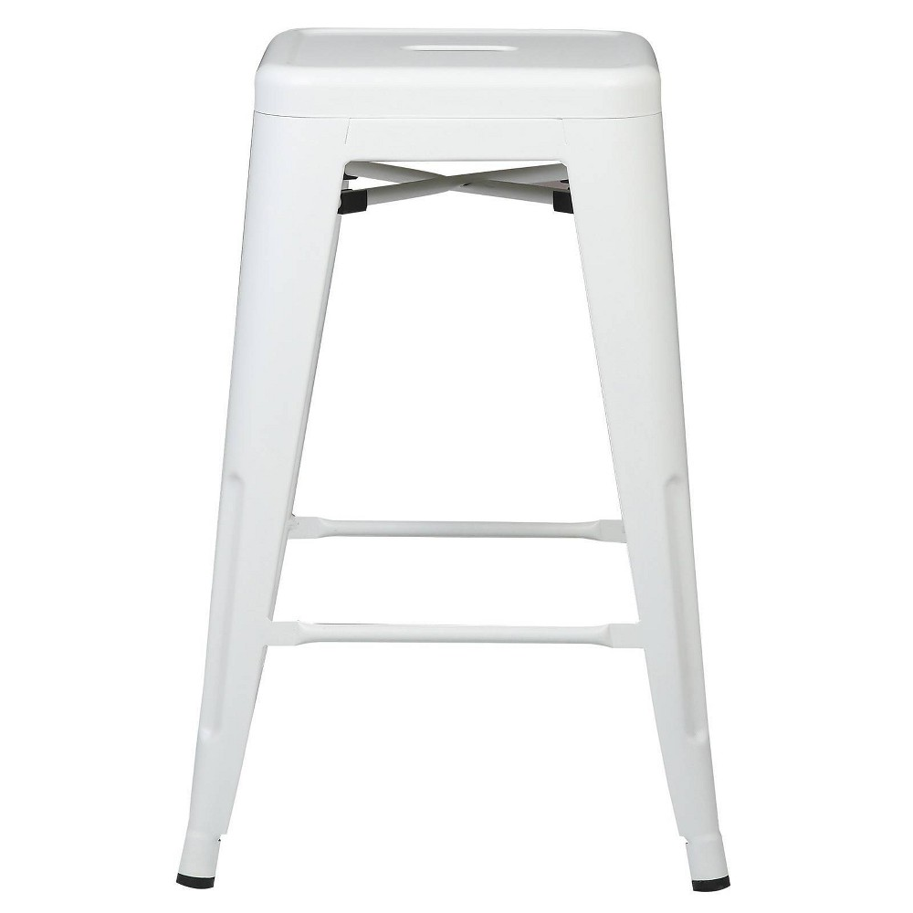 "Image of ""24"""" Franco Industrial Counter Height Stool White - Poly & Bark"""