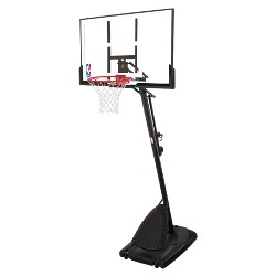 "Spalding NBA 50"" Polycarbonate Portable Basketball Hoop"