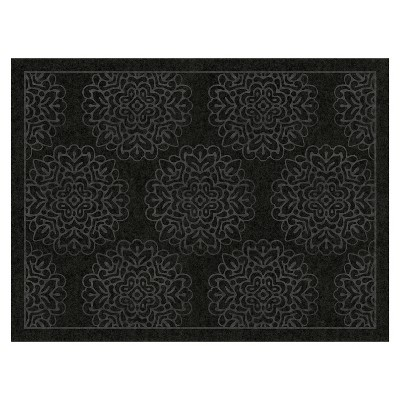 3'X4' Damask Doormats Black - Multy Home LP