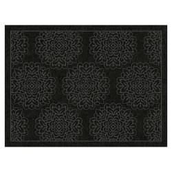 Embossed Damask Doormats Black - Multy Home LP