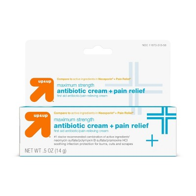 First Aid Antibiotic Pain Relieving Cream .5oz - up & up™