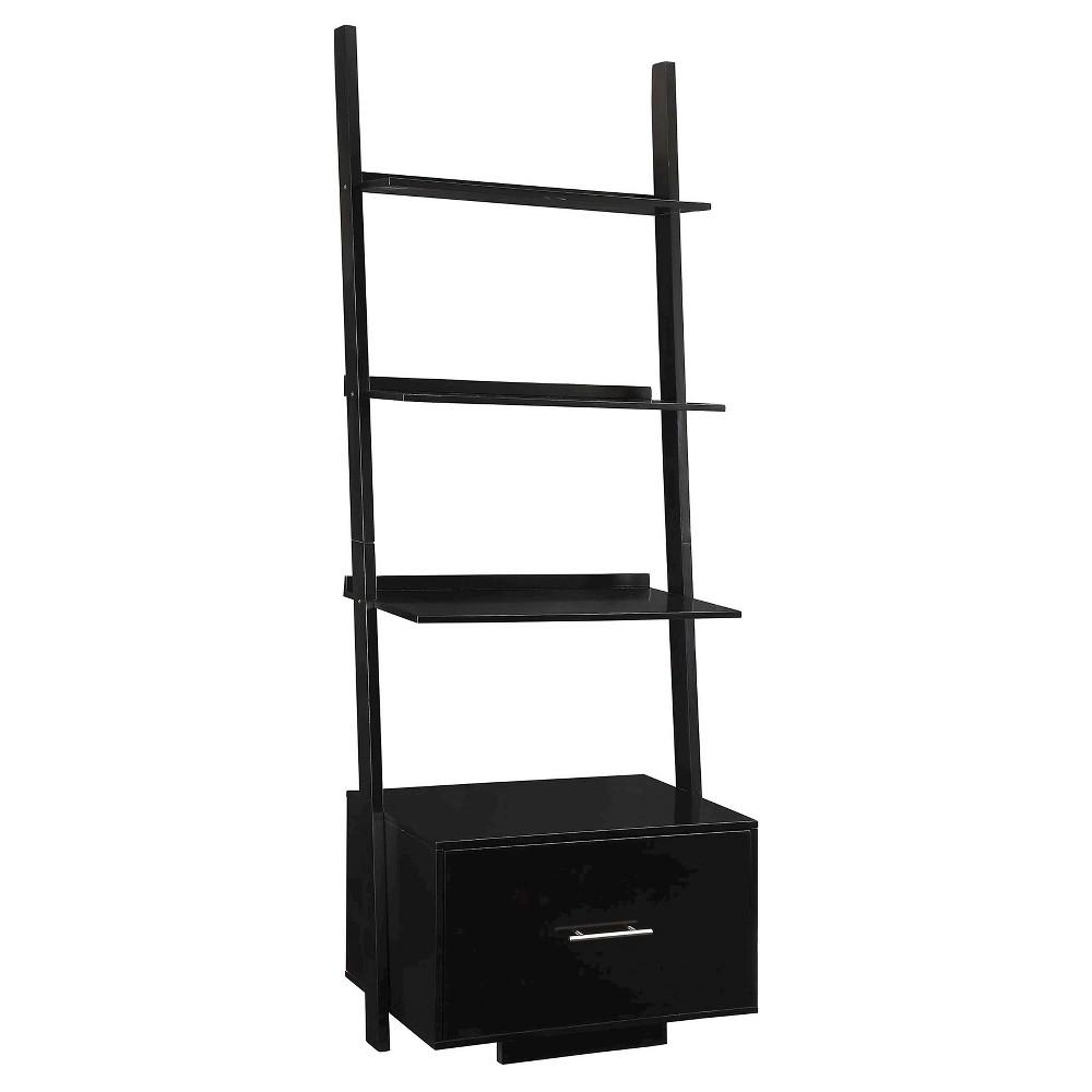 69 Decorative Bookshelf Black - Convenience Concepts