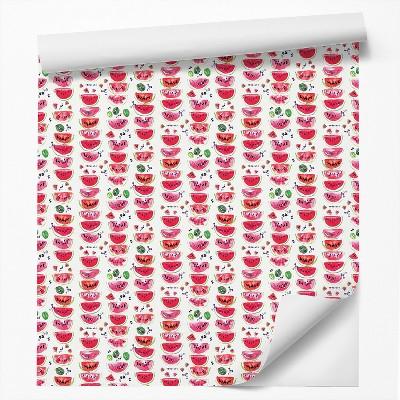 Americanflat Peel & Stick Wallpaper Roll - Watermelon Slices by Rebecca Prinn