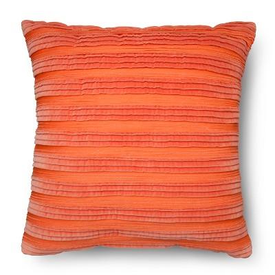 Bahama Sunset Velvet Texture Coral Throw Pillow - Threshold™