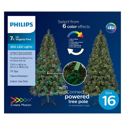 - Philips 7ft Prelit Artificial Christmas Tree... : Target