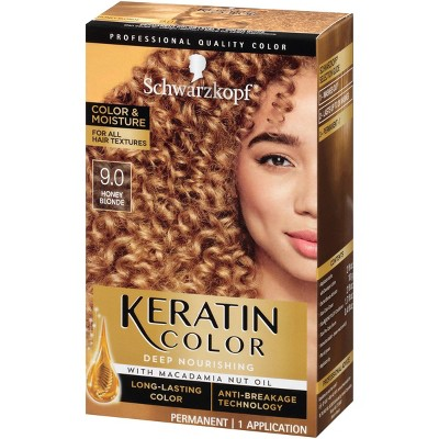 Schwarzkopf Keratin Color Honey Blonde Permanent Hair Color - 6.2oz