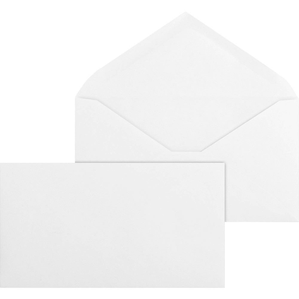 Image of Business Source 500ct No.6 3/4 V Flap Business Envelopes - White