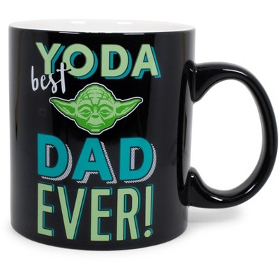 "Silver Buffalo Star Wars ""Yoda Best Dad Ever"" Ceramic Mug 
