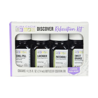 Aura Cacia Discover Relaxation Kit - 4ct/0.25 fl oz each