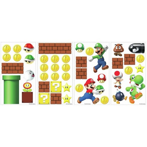 RoomMates Super Mario Peel and Stick Wall Decal - image 1 of 4
