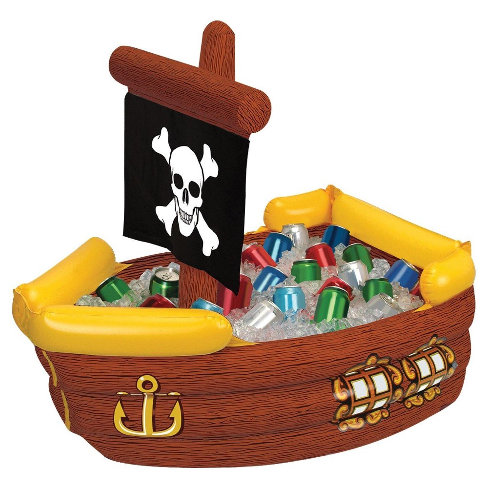 Image of Inflatable Pirate Ship Cooler