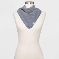 Women's Textured Striped Bandana Scarf - Universal Thread™  Blue One Size