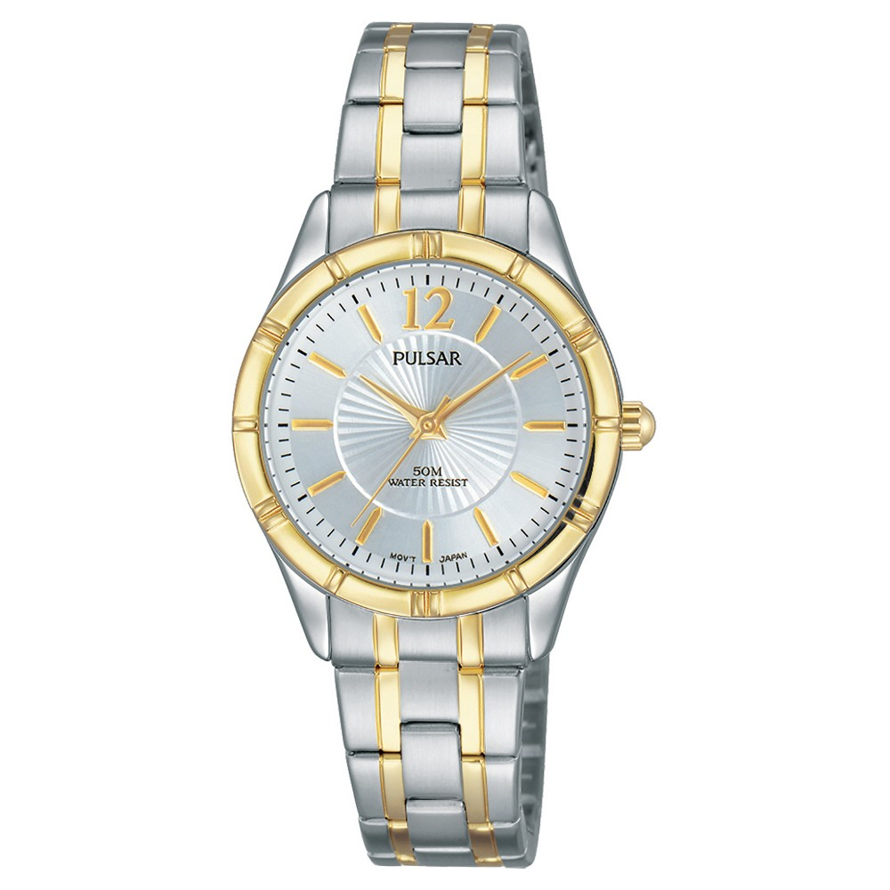 Women's Pulsar - Two Tone with Silver Dial PH8256
