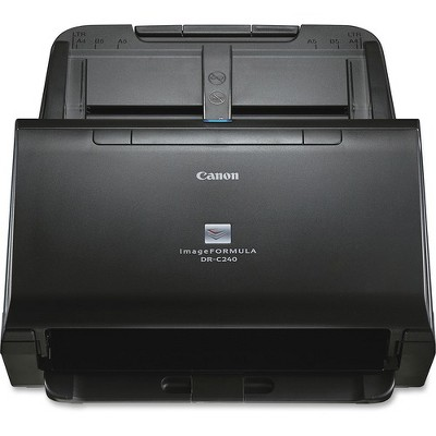 Canon imageFORMULA DR-C240 Sheetfed Scanner - 600 dpi Optical - 24-bit Color - 8-bit Grayscale - 45 ppm (Mono) - 30 ppm (Color) - Duplex Scanning