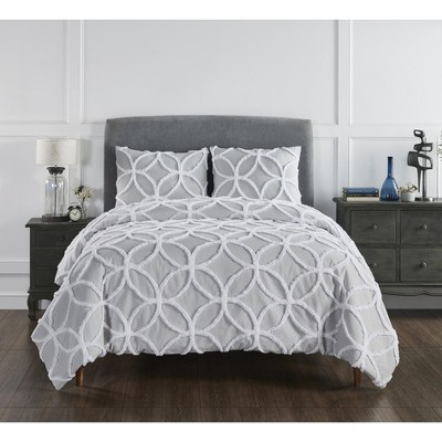 Tufted Wedding Ring Collection 100% Cotton Tufted Unique Luxurious Comforter Set - Better Trends