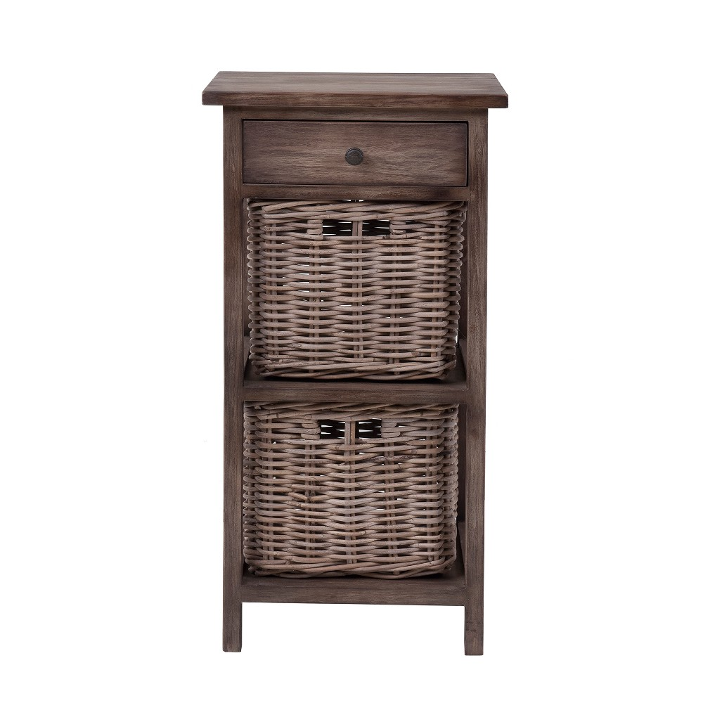 Burnside Rattan Accent Table Brown - East At Main