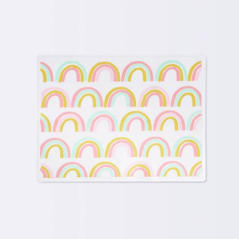 Silicone Place Mat with Decal-Rainbow Silk Screen - Cloud Island™ - image 1 of 4
