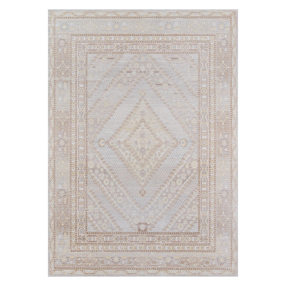 2'X3' Shapes Geometric Loomed Accent Rug Gray - Momeni