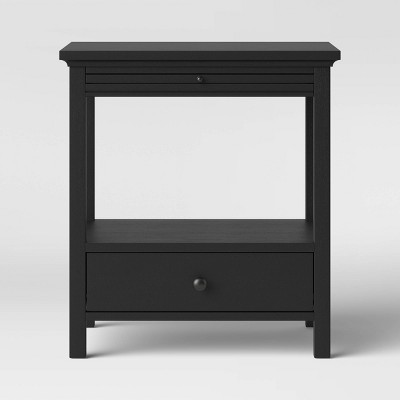 Shelburne Nightstand with Drawer/Shelf Black - Threshold™