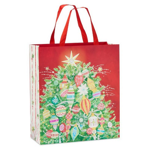Papyrus Tree And Pattern Ornament Jumbo Gift Bag