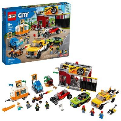 LEGO City Tuning Workshop Toy Car Garage Cool Building Set 60258