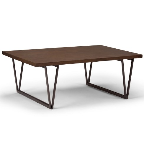 """50"""" Travis Solid Wood Coffee Table Natural Aged Brown - Wyndenhall - image 1 of 4"""