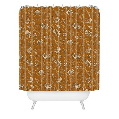 Holli Zollinger Kalami Floral Shower Curtain Yellow - Deny Designs