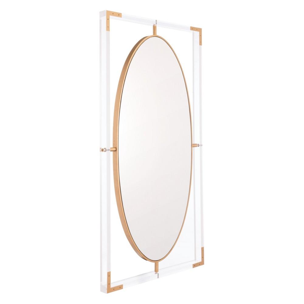 ZM Home 42 Modern Rectangular Mirror Clear