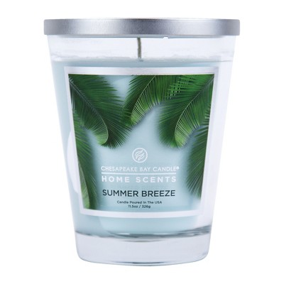 11.5oz Lidded Glass Jar Candle Summer Breeze - Home Scents By Chesapeake Bay Candle