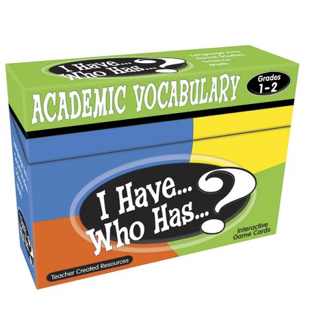 Teacher Created Resources I Have… Who Has…? Academic Vocabulary Game, Grades 1 to 2 - image 1 of 2
