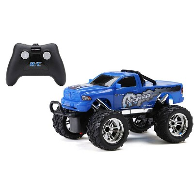 New Bright Remote Control RC FF Chargers Ram Truck - Blue - 1:18 Scale