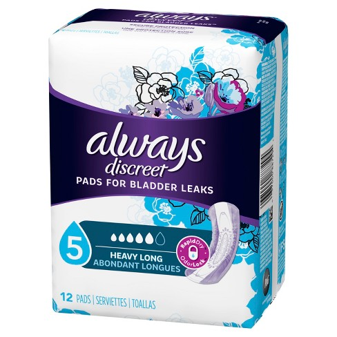 Always Discreet Maximum Absorbency Long Length Incontinence Pads - image 1 of 6