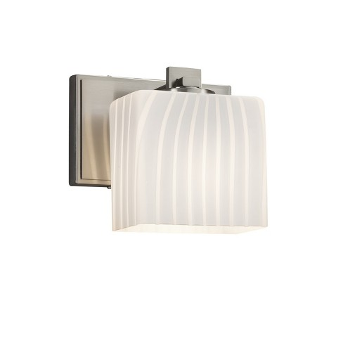 "Justice Design Group FSN-8447-55-RBON Fusion Single Light 7"" Wide Bathroom Sconce - image 1 of 1"