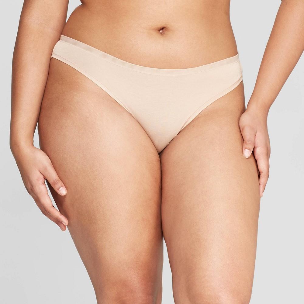 04d5163157e Womens Modal Thong with Mesh Waistband Auden Pearl Tan XL