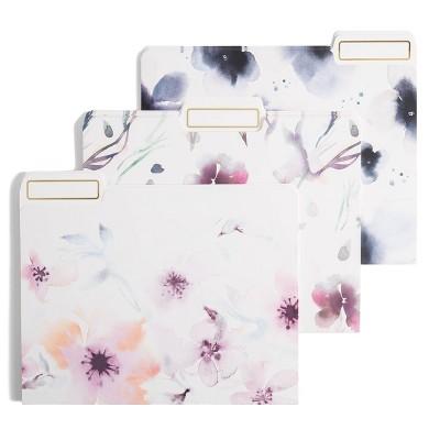 U Brands 12ct File Folders Floral Blooms