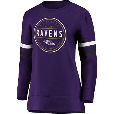 NFL Baltimore Ravens Women's Long Sleeve Fleece Sweatshirt